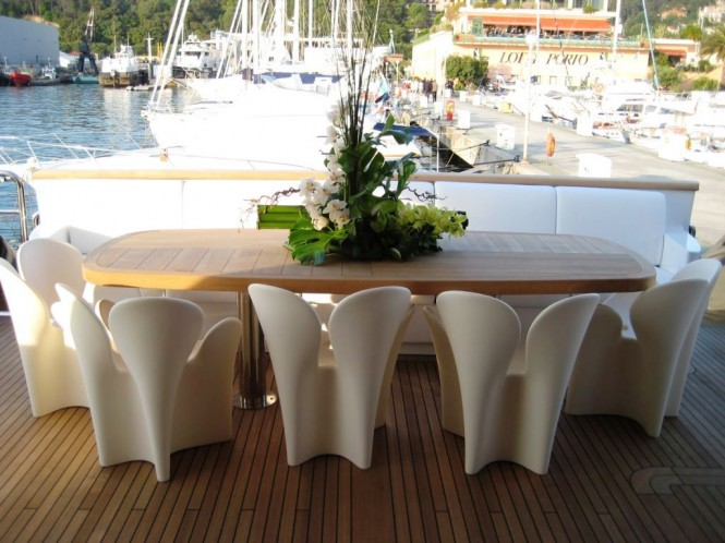 ODYSSEY - The Aft Deck Seating and Dining